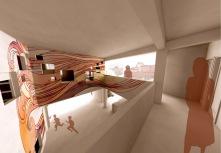 Second floor residential area & Atrium